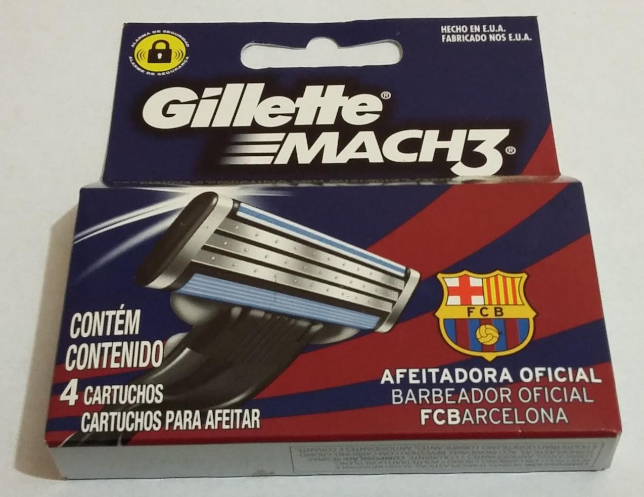 Chedraui Querétaro Gillette Mach 3 Barcelona con 4 cartuchos