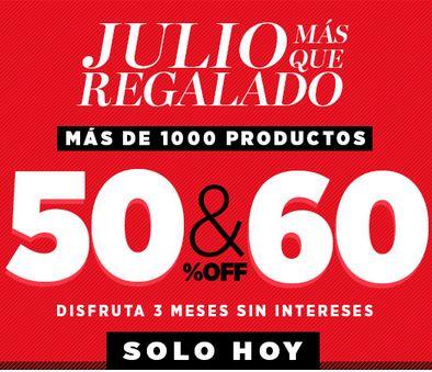 Dafiti: Julio más que regalado con descuentos del 50 y 60%