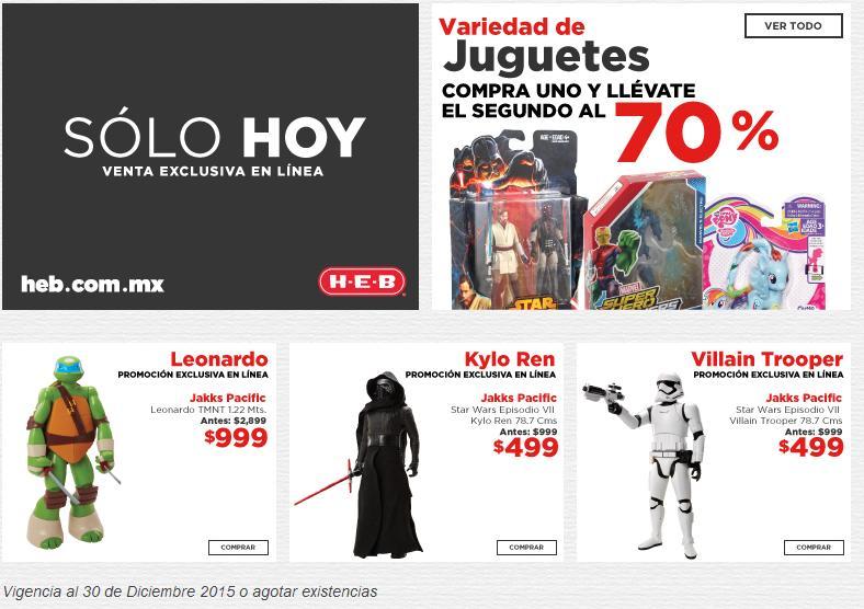 HEB Online - Solo Hoy- Figuara de 78.7cm StarWars $499 o 2 por $648.70