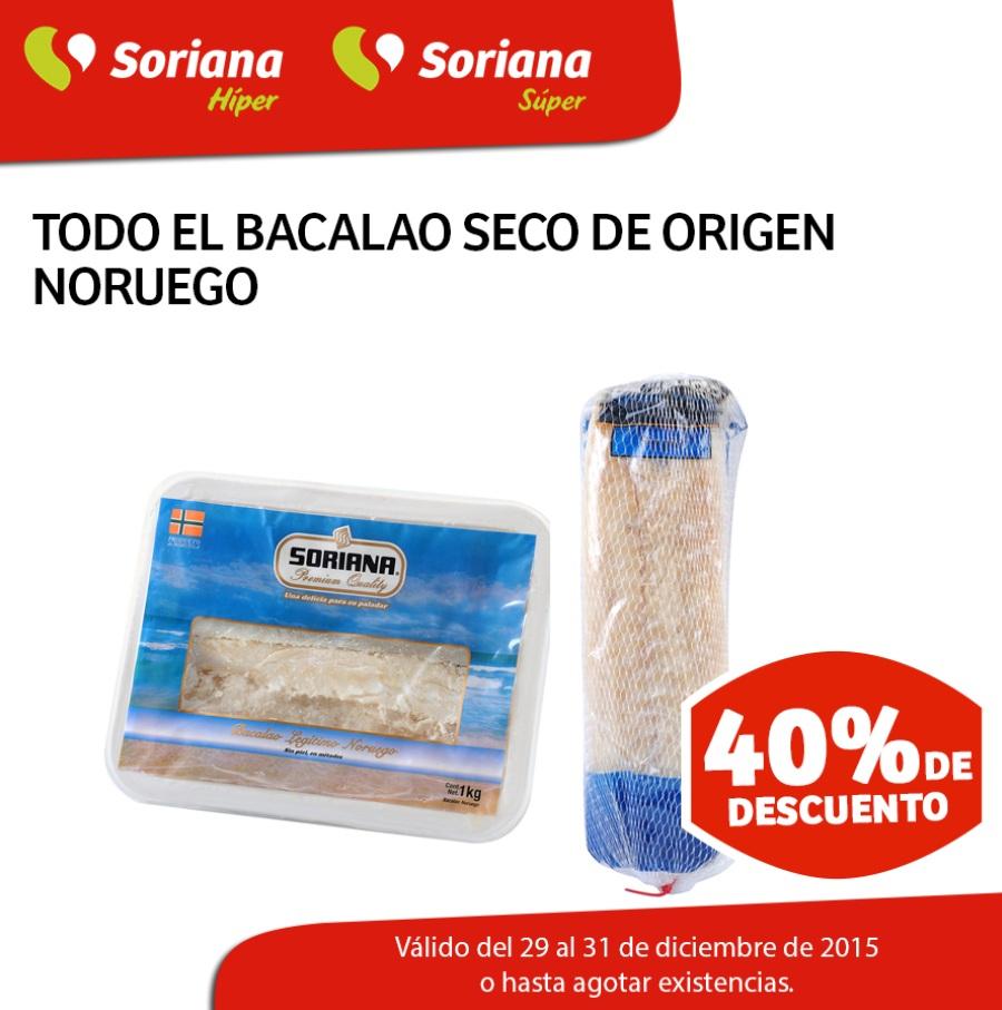 Soriana Hiper & Super: 40% de descuento en todo el bacalao noruego seco