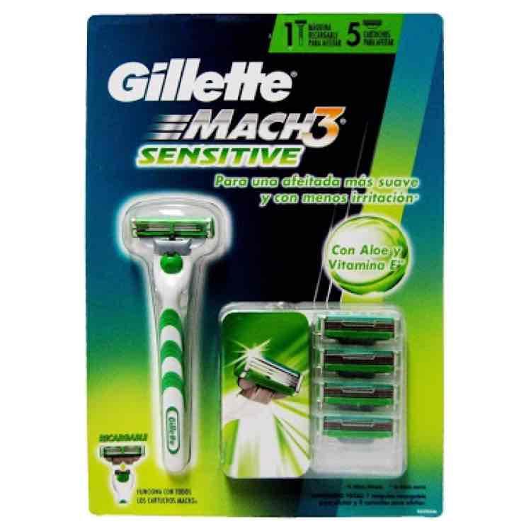 Chedraui: pack Gillette mach 3 sensitive a $73