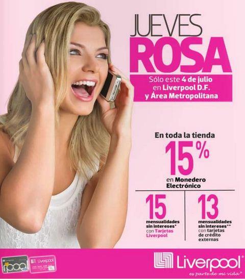 Jueves Rosa en Liverpool 4 de julio