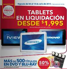 Best Buy: liquidación de tablets y laptops y más