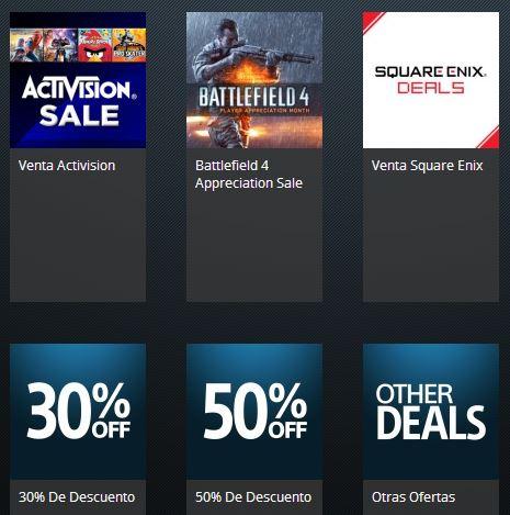 PlayStation Network: descuentos en juegos de Square Enix, Activision y Battlefield 4