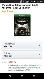 Amazon: Batman  Arkham Knight Xbox one $627.80