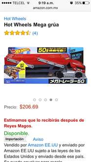 Amazon: Hot Wheels Mega grúa