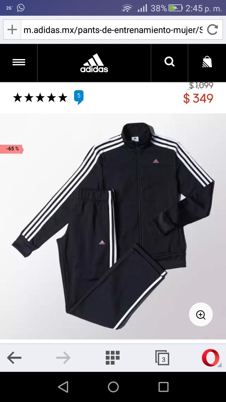 Una oferta más de Adidas on-line...pants dama