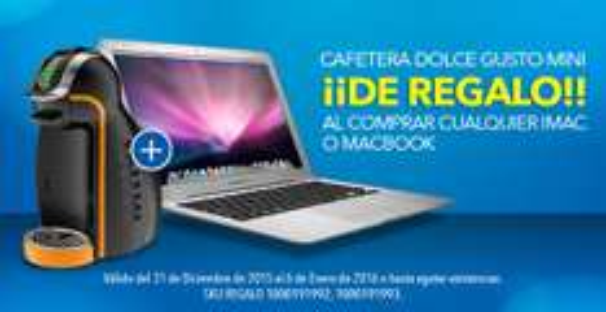Best Buy: cafetera Dolce Gusto Mini de regalo al comprar cualquier iMac o Macbook