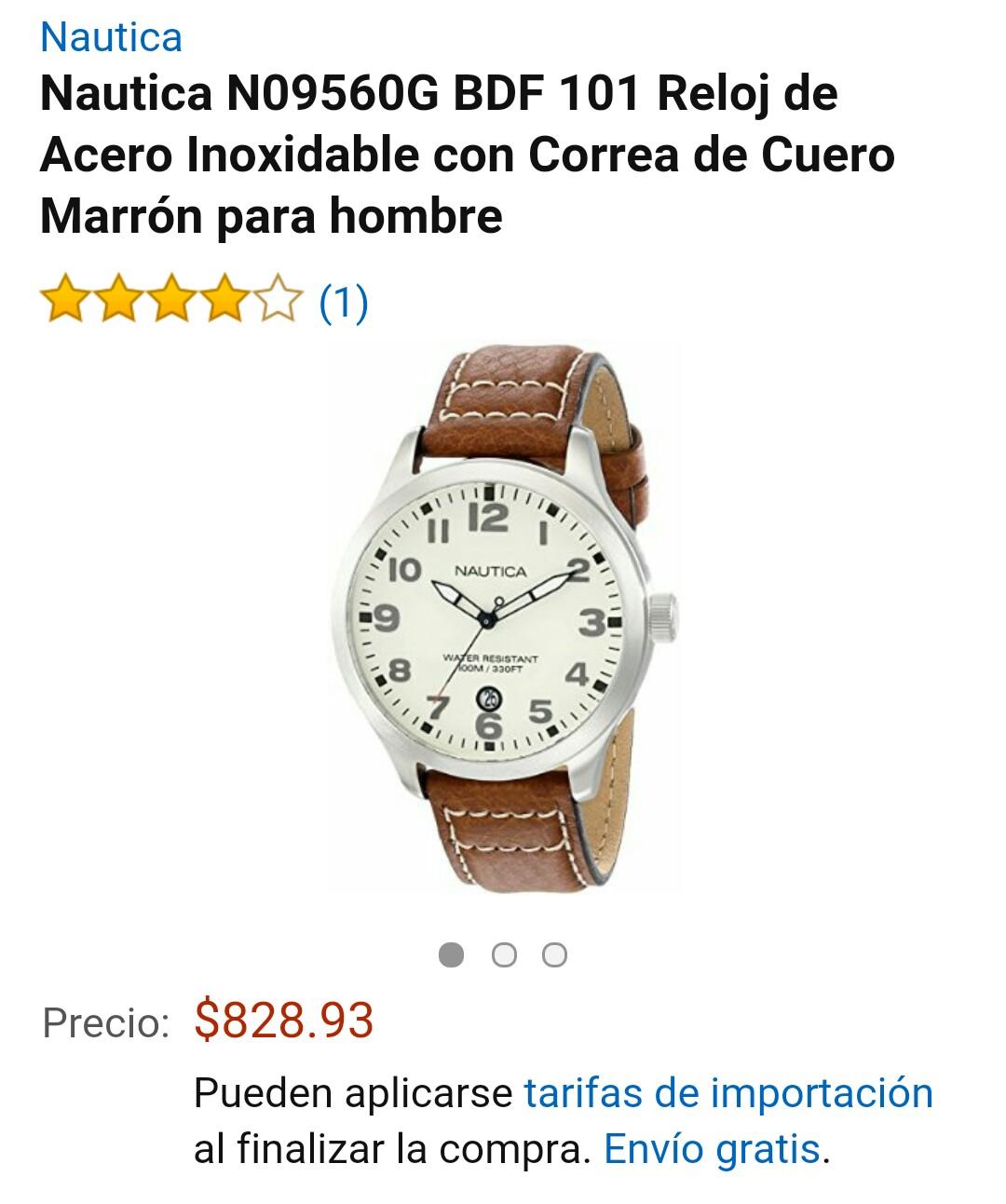Amazon: Reloj de Acero Inoxidable Nautica N09560G a $828
