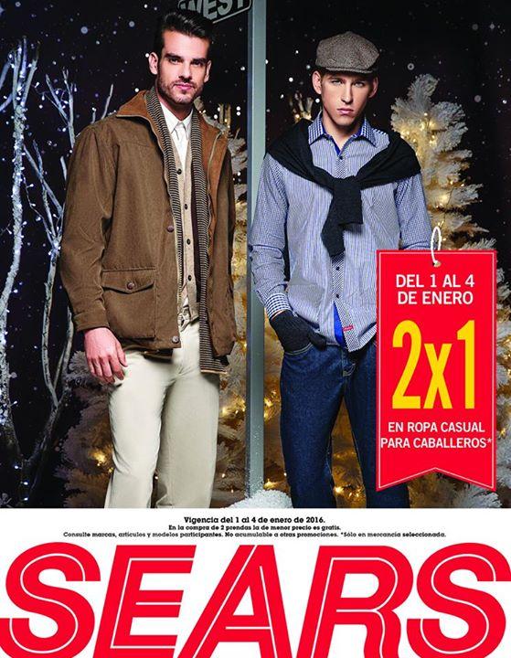 Sears: 2x1 en ropa casual para hombre, 3x2 en calzado, ropa interior, pijamas y más