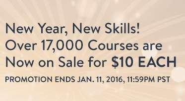 Udemy, oferta de año nuevo, varios cursos a 10 usd.