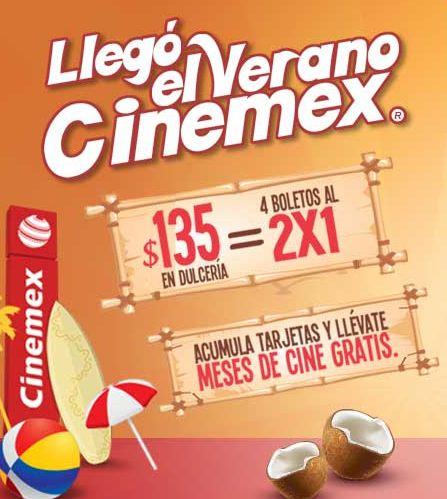 Cinemex: 2x1 o meses de cine gratis comprando en dulcería