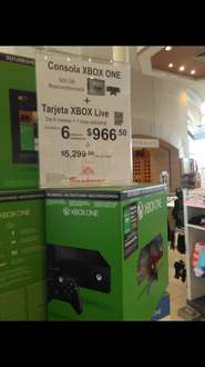 Sanborns: Xbox One reacondicionada + tarjeta xbox live 6 + 1
