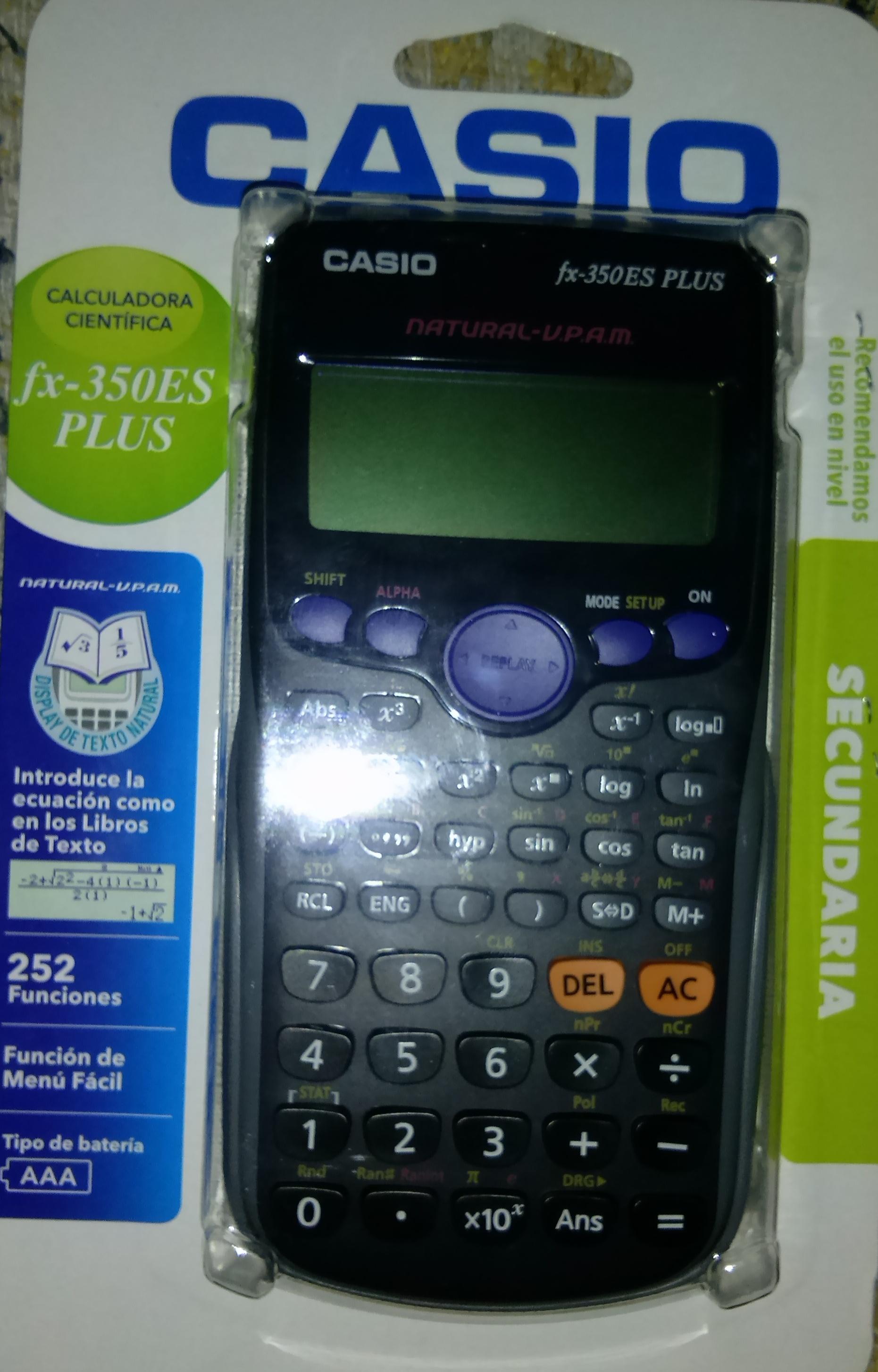 Chedraui: Calculadora Cientifica Casio FX-350ES a $77.70