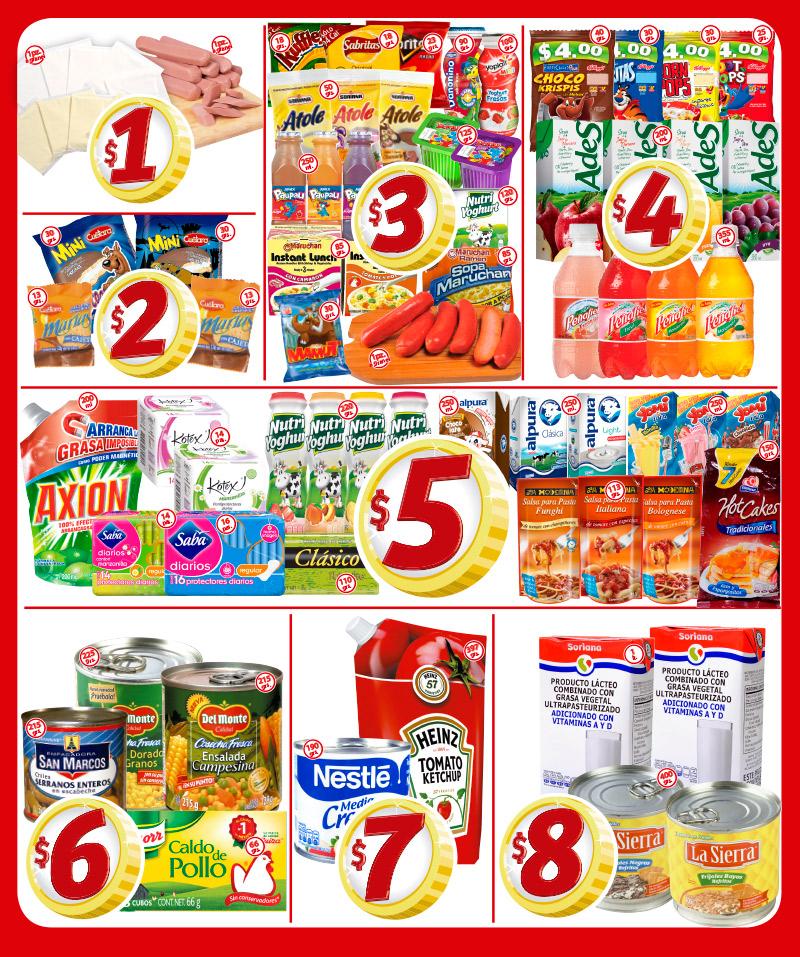 Soriana mercado: productos desde $1 a $20, ejemplo: salchicha individual a $1