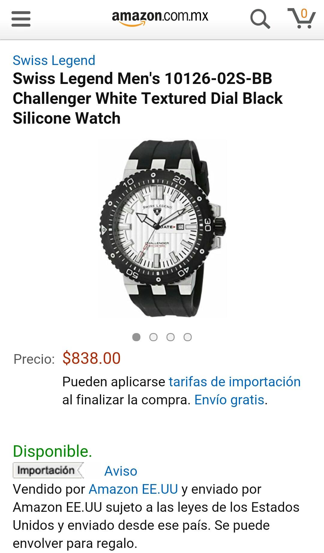 Amazon: Reloj Swiss Legend 10126-02S-BB