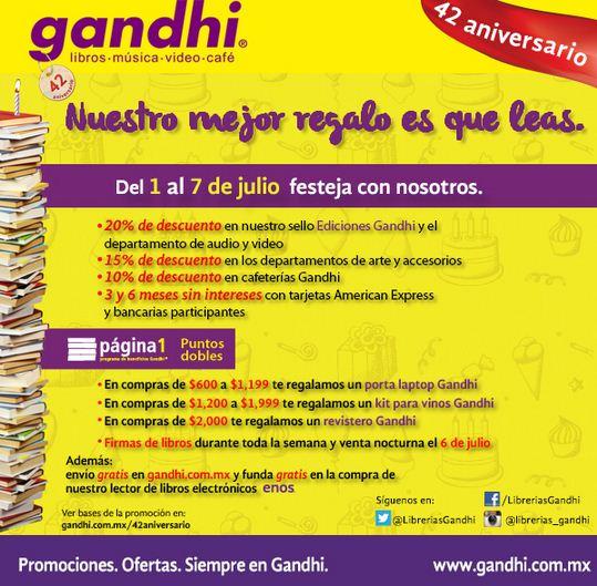 42 aniversario de Gandhi