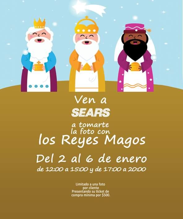 Sears: fotografía Gratis con los Reyes Magos con tus compras minima de $500