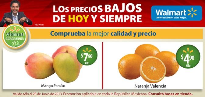 Ofertas de frutas y carnes en Walmart y Chedraui 28 a 30 de junio
