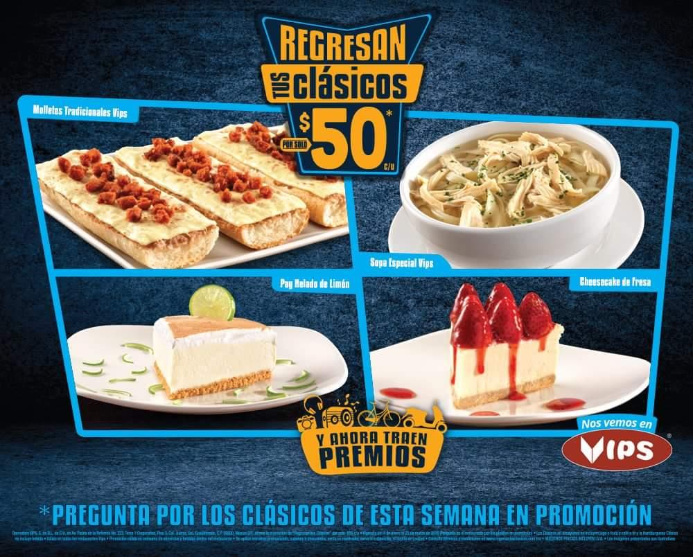 Vips: Regresan los Clásicos de $50 y ahora traen premios