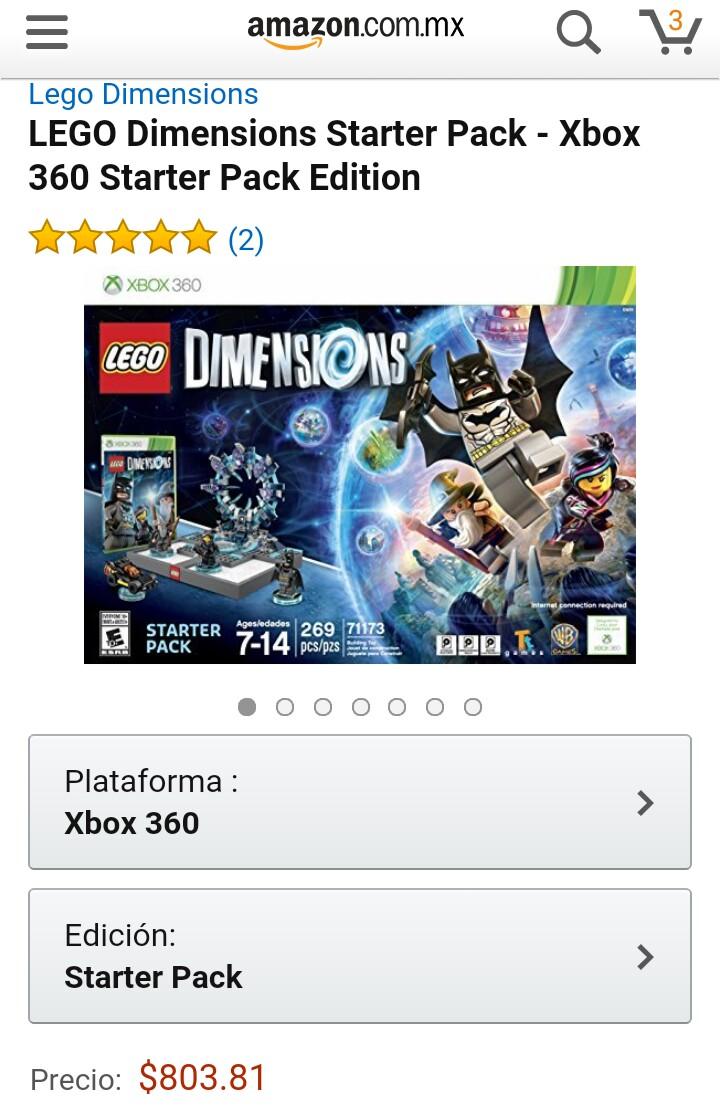 Amazon México: Lego dimensions starter pack para Xbox 360 y WiiU