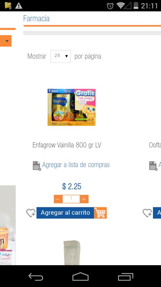 Chedraui en linea Coacalco: leche de vainilla Enfagrow de 800gr más lata viajera a $2.25
