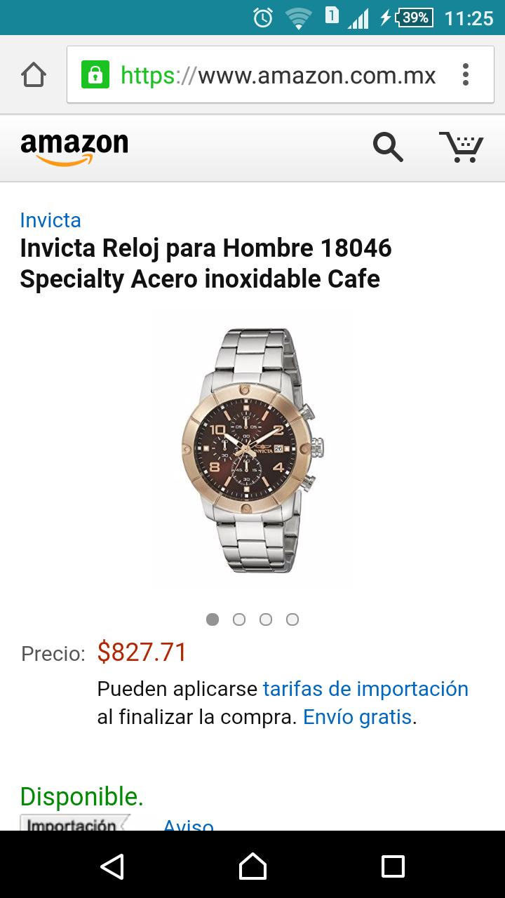 Amazon: Invicta Reloj para Hombre 18046 Specialty Acero inoxidable