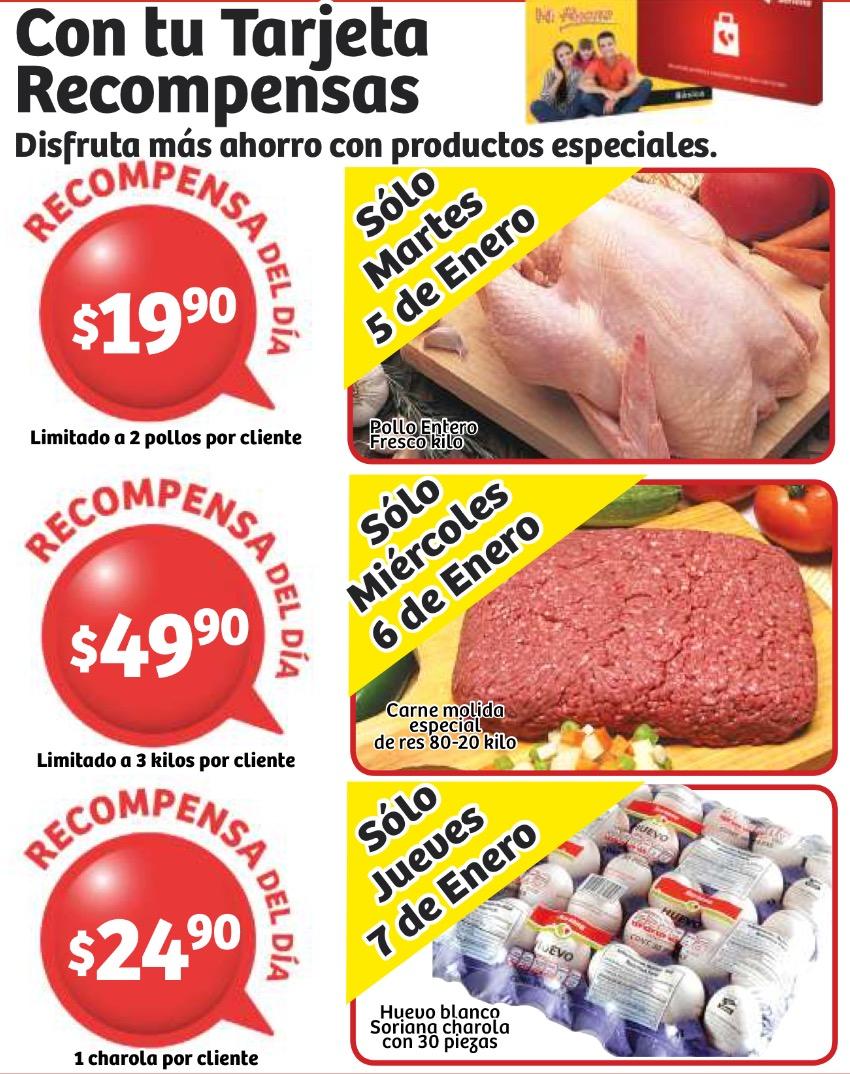 Soriana: cartera de 30 huevos blancos $24.90