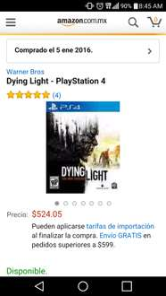 Amazon: dying light ps4 $524