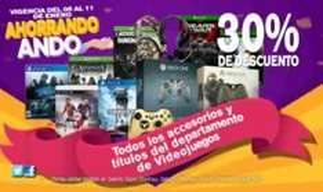 Chedraui: 30% de descuento en videojuegos PS4, PS3, XBOX ONE, XBOX 360