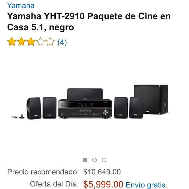 Amazon: Cine en casa Yamaha 5.1 YHT-2910 a $5,999