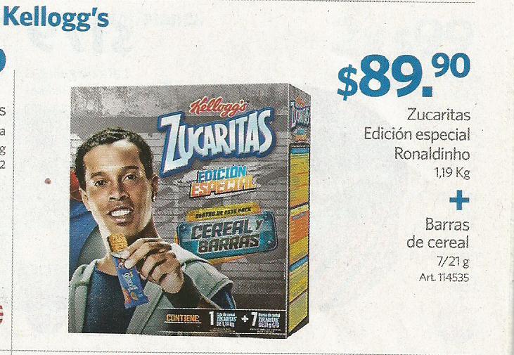 Sam's Club: Paquete Zucaritas 1.19 kgs + 7 Barras Zucaritas $54.50