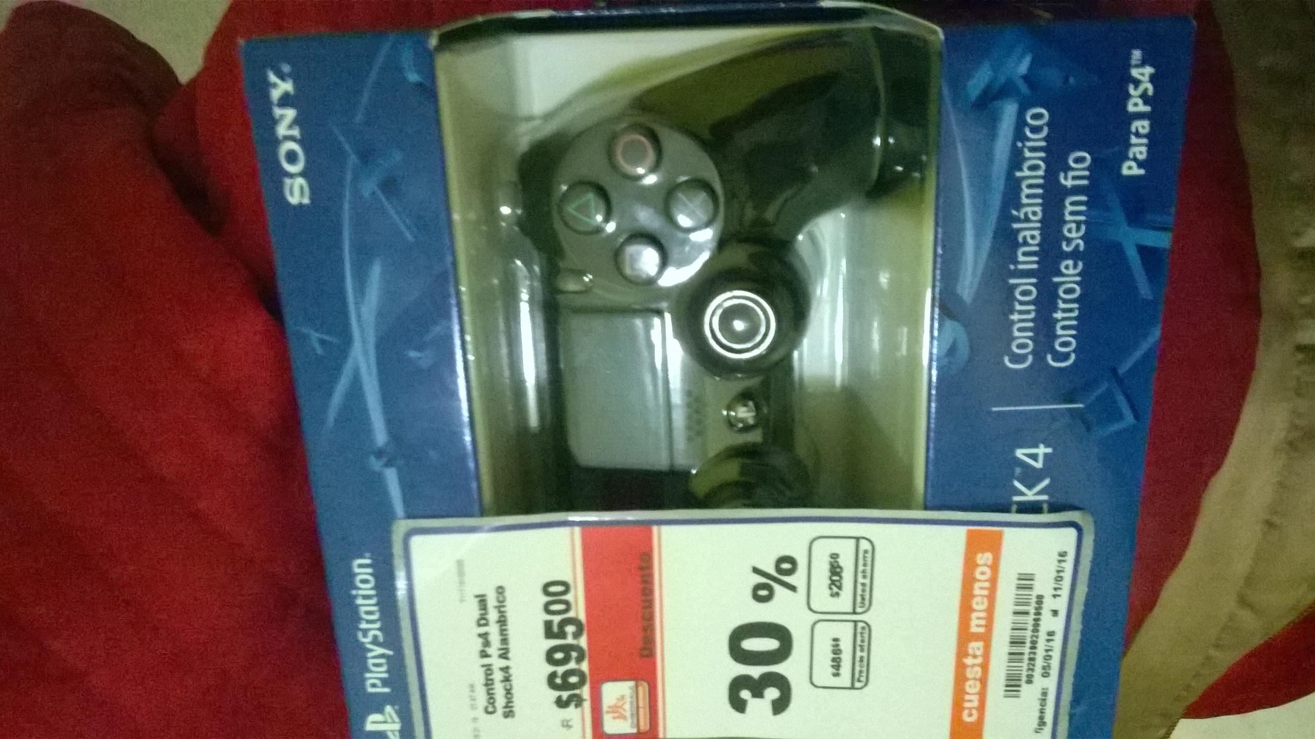 Chedraui: control de PS4 inalambrico $486.50