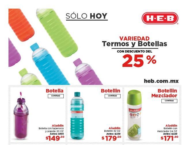 Heb Online Termos y Botellines con 25% en oferta de Solo Hoy