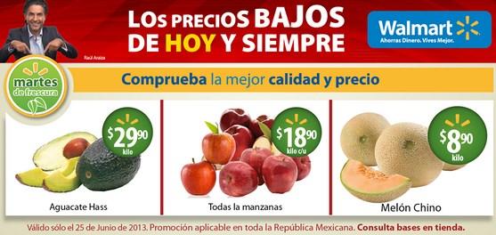 Martes de frescura Walmart junio 25: todas las manzanas $18.90 y más