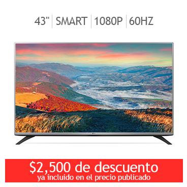 """Costco Online (Solo Hoy) / TVLG LED 43"""" Smart TV $6749 con cupón."""