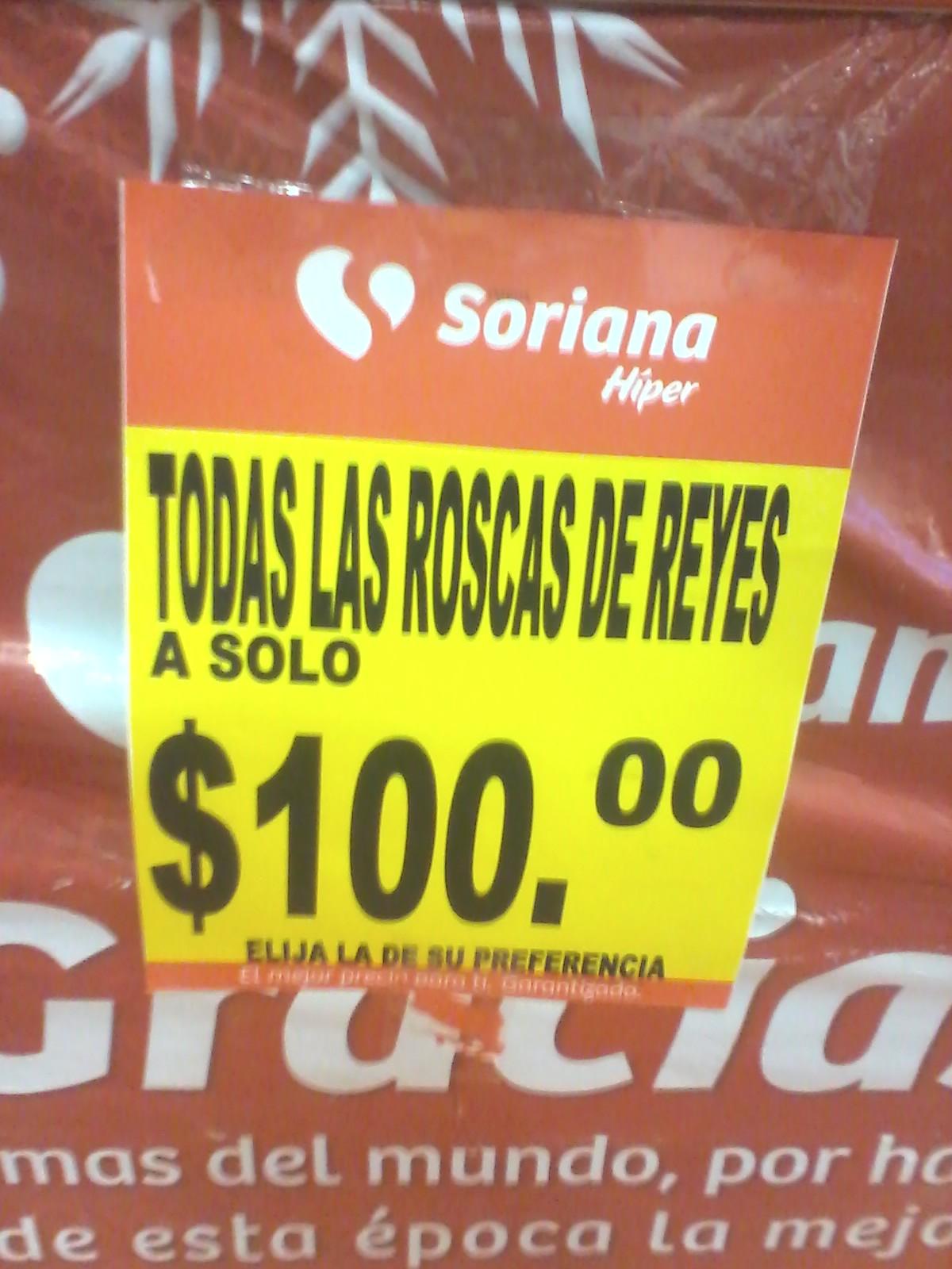 Soriana: TODAS Las Roscas de Reyes de cualquier tamaño y las rellenas de CHOCOLATE a $100, Galletas gamesa surtido rico $19.50
