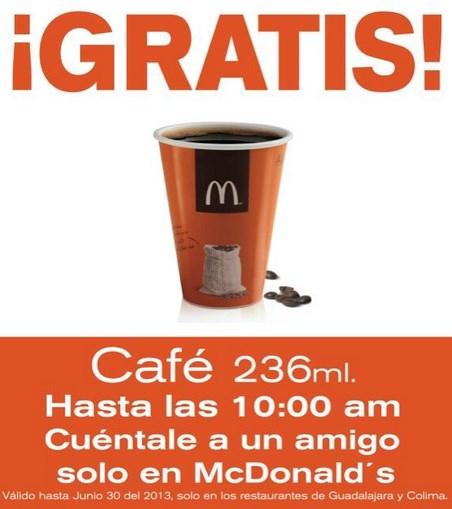 McDonald's: café gratis hasta las 10 de la mañana (GDL y Col)