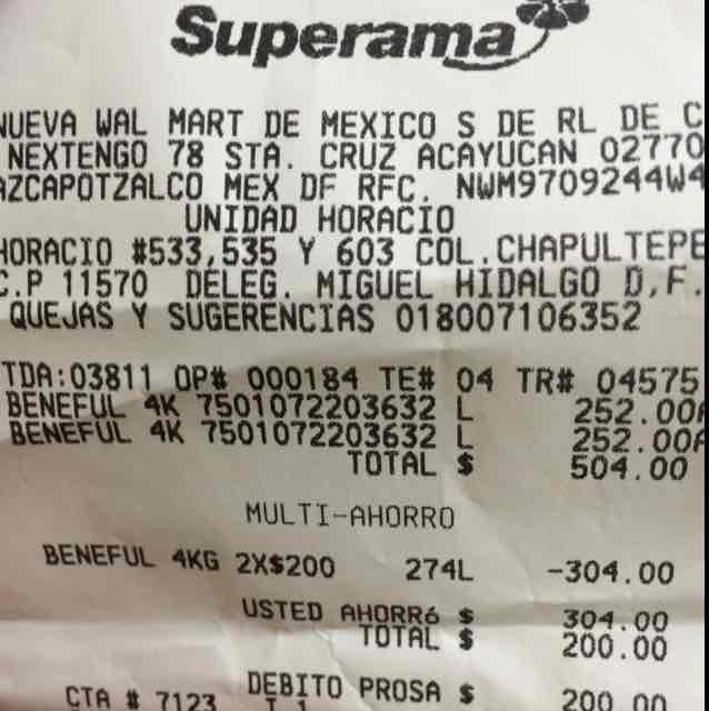 Superama: Beneful Cachorro 4kg 2x$200