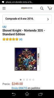 Amazon México: Shovel Knight Para 3DS