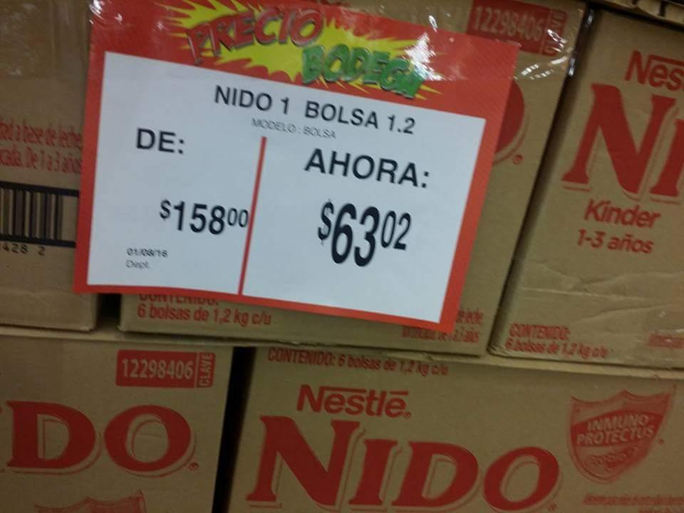 Bodega Aurrerá Saltillo, Leche Nido Kinder 1.2Kg  $63.02
