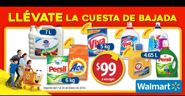 Walmart: Varios Detergentes a 99 pesos