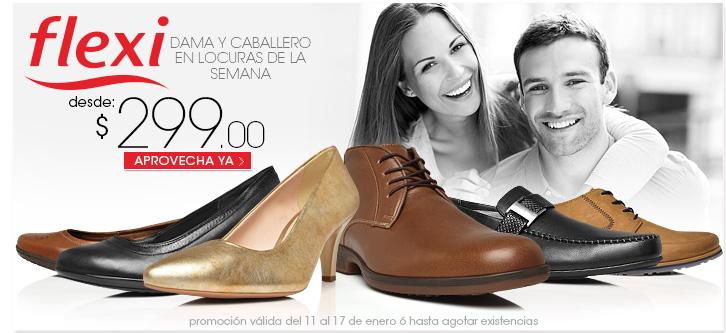 Pappomanía: Calzado para dama y caballero Flexi desde $299