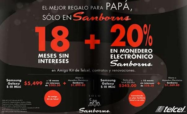 Sanborns: 20% en monedero y 18 MSI en Amigo Kit, contratos y renovaciones Telcel