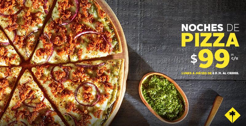 California Pizza Kitchen: pizzas a $99 entre semana desde las 6 pm