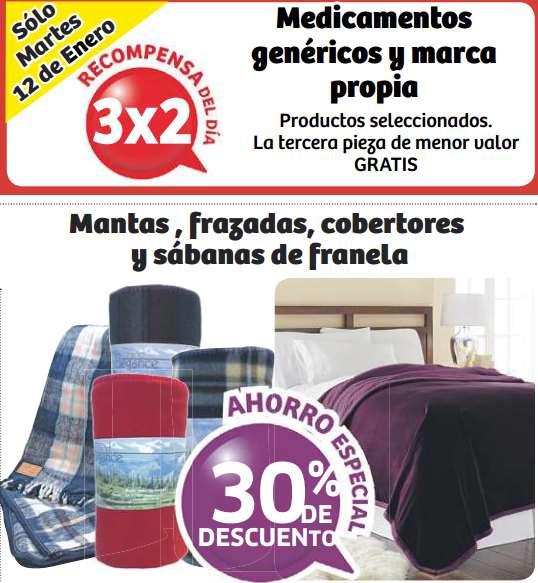 Soriana: 3x2 en medicamentos genéricos y 30% de descuento en franela