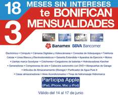 Sam's Club: 18 meses sin intereses y 3 de bonificación. Incluye Apple