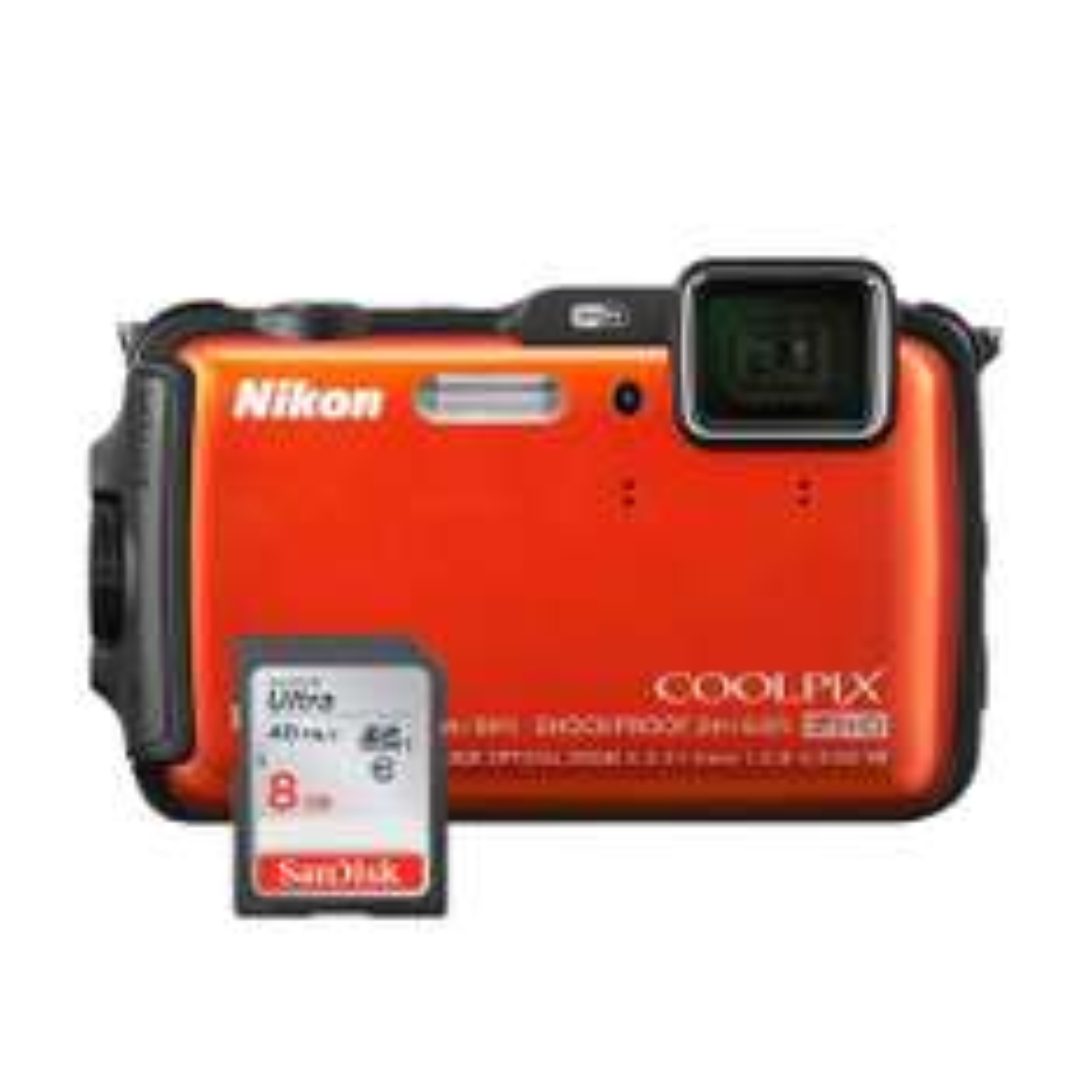 Walmart: Cámara Nikon Acuática AW120 + SD 8GB