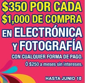 Julio Regalado en La Comer: $350 de descuento por cada $1,000 en electrónica