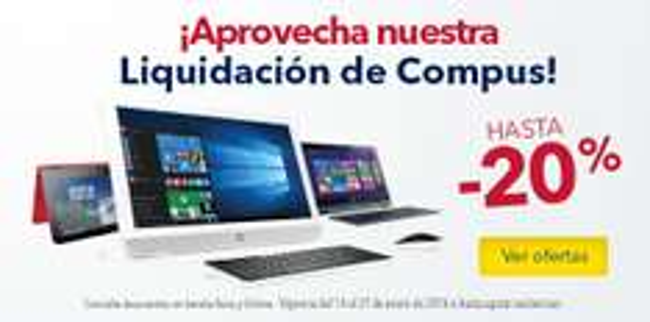 Best Buy: Liquidación en Computo de hasta 20% de descuento